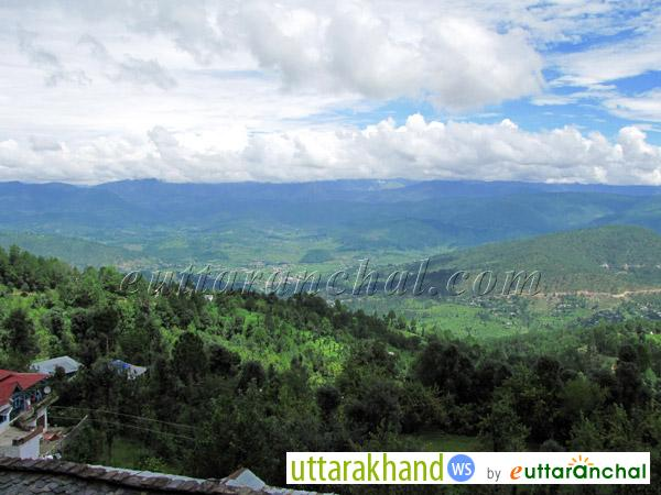 Valley Views from Chevrons Mountain Villa Hotel in Kausani