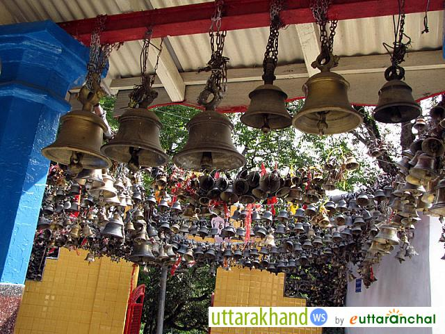 Bells in Jhoola Devi Temple in Ranikhet