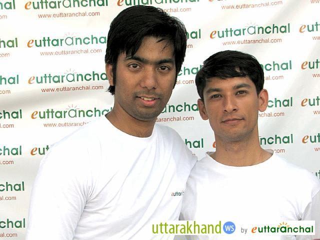 eUttaranchal Team members - Deepak and Bhupendra