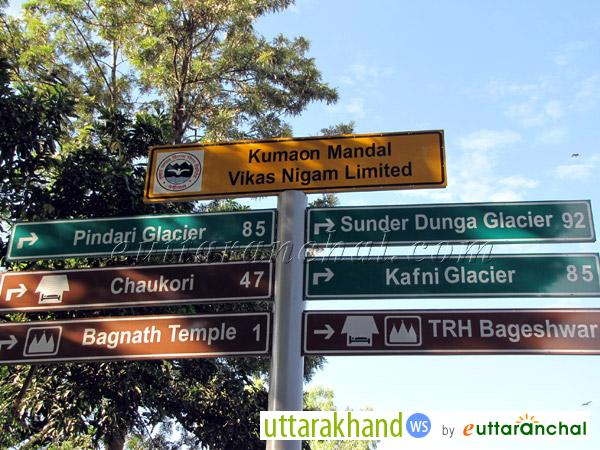 Directions from Bageshwar