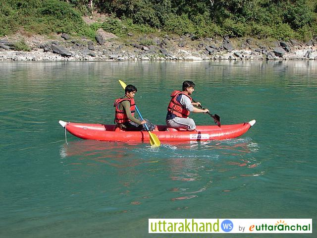 Kayaking on the Ganges near Rishikesh