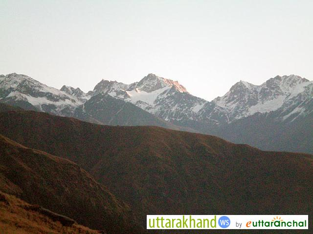 View of himalayas from Rudranath Temple