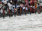 Devotees taking holy bath in River Ganga, Haridwar