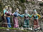 Kumaoni Women Sculptures in Traditional Dress