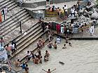 People Taking holy dip in River Ganga