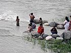 Devotees taking Holy Bath in River Ganga