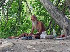 Sanyasi on the Banks of River Ganga