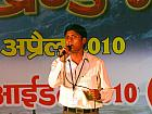 Contestant performing for Uttarakhand Idol 2010