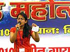 Contestant singing at Uttarakhand Idol 2010