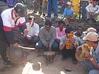 Villagers beating the Dhol